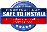 Safe to install award from FindMySoft.com...Read reviews, free control download and free sample VB code